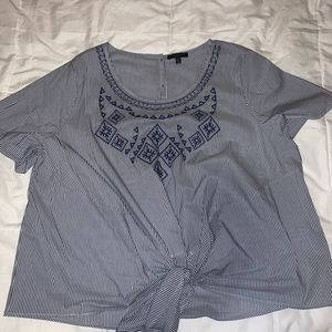 Blue and White Stripped Shirt (18/20)